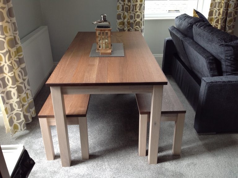 Apartment Three's dining table seats up to six people